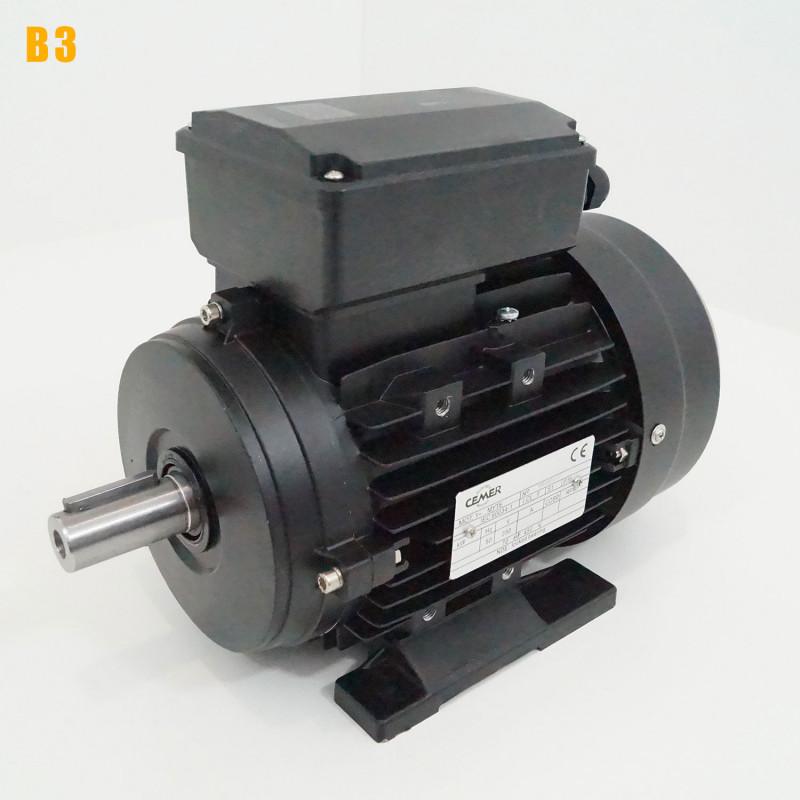 Moteur electrique 0,25 kW 1000 tr/min 220V monophasé CEMER MY - Bride B3