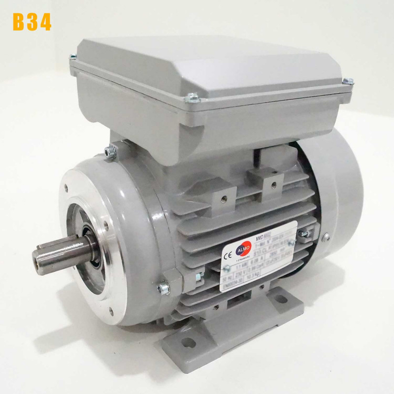 Moteur electrique 0,55 kW 3000 tr/min 220V monophasé ALMO MMD - Bride B34