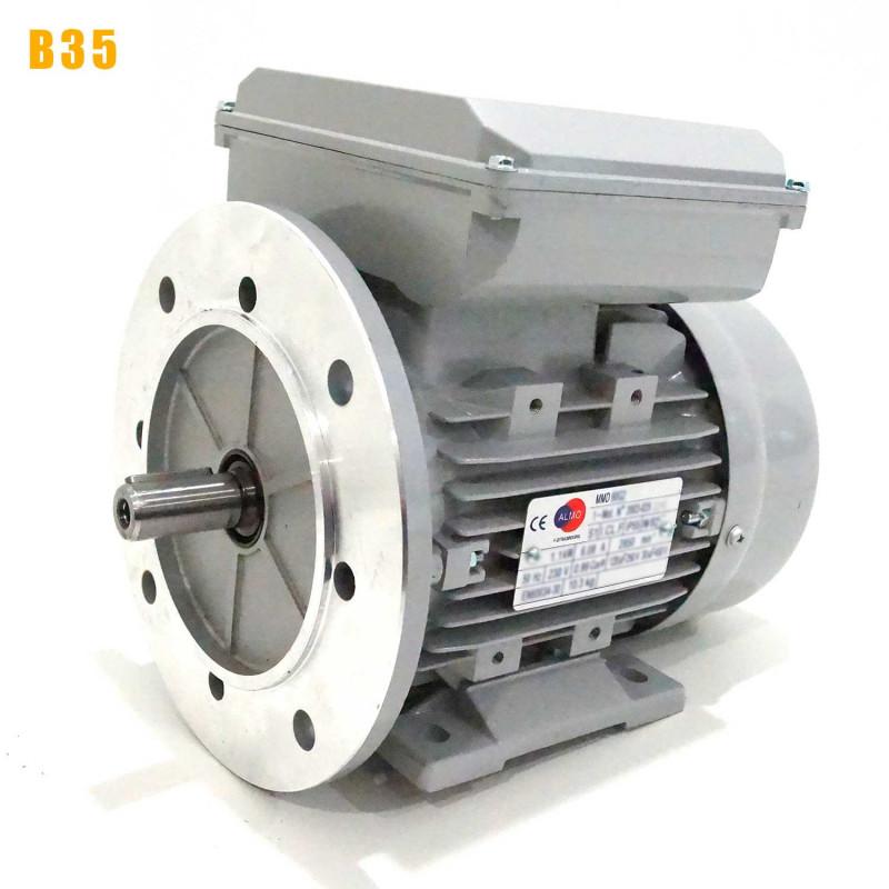 Moteur electrique 0,18 kW 1500 tr/min 220V monophasé ALMO MMD - Bride B35
