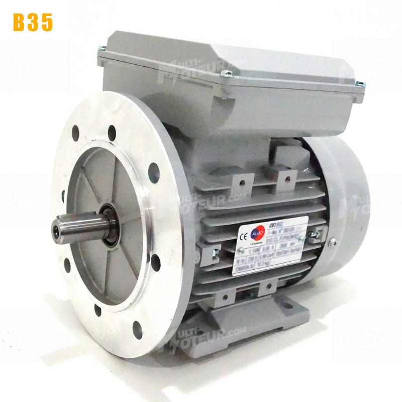 Moteur electrique 0,75 kW 1500 tr/min 220V monophasé ALMO MMD - Bride B35