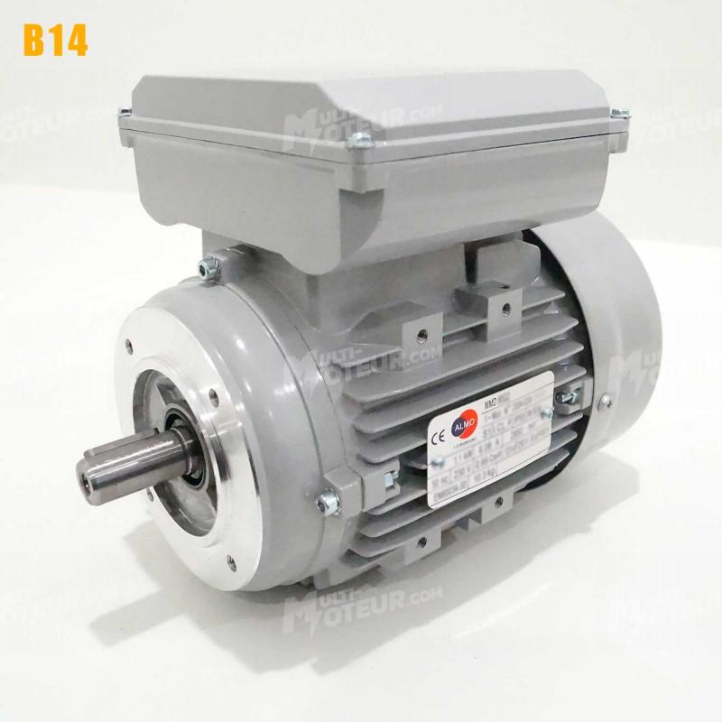 Moteur electrique 0,75 kW 1500 tr/min 220V monophasé ALMO MMD - Bride B14