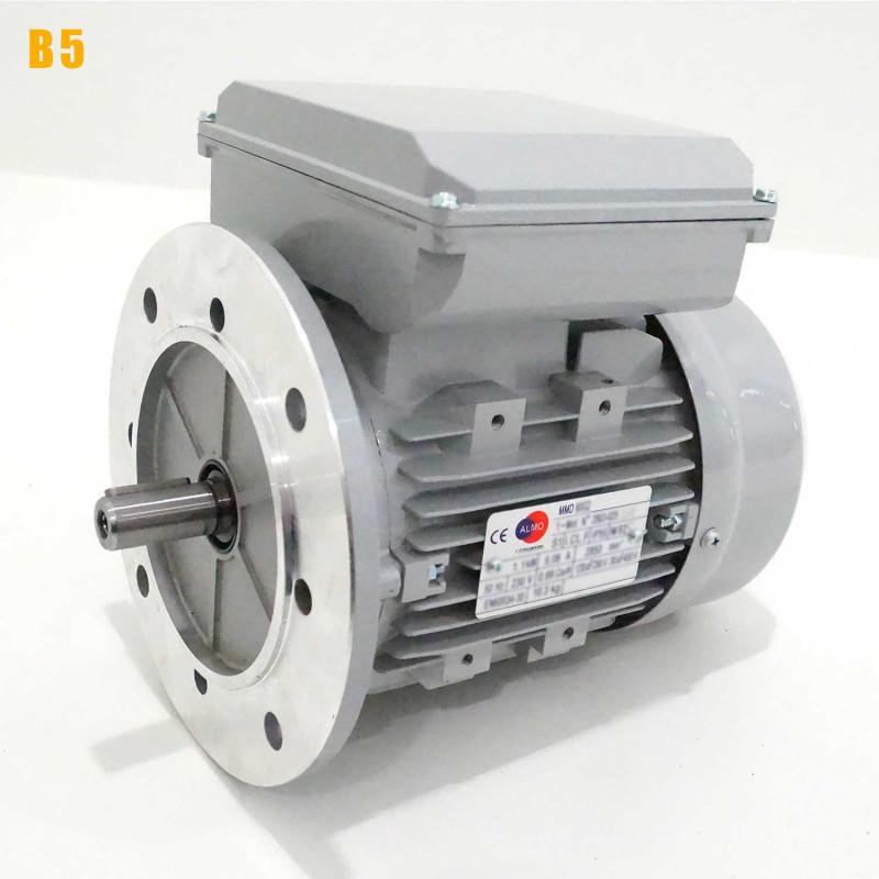 Moteur electrique 1,1 kW 1500 tr/min 220V monophasé ALMO MMD - Bride B5