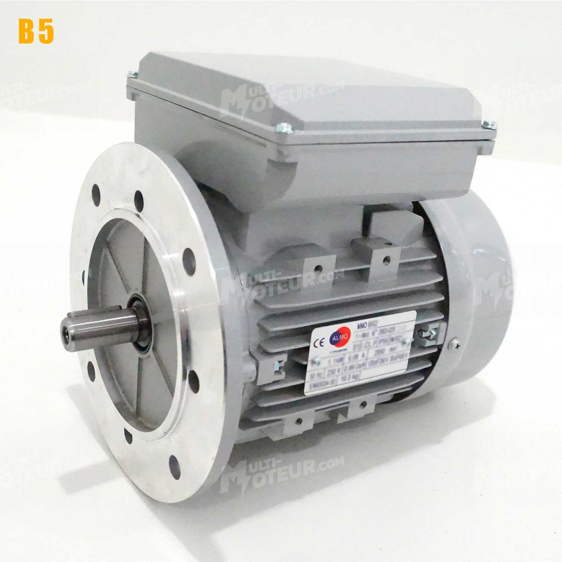 Moteur electrique 3,7 kW 1500 tr/min 220V monophasé ALMO MMD - Bride B5