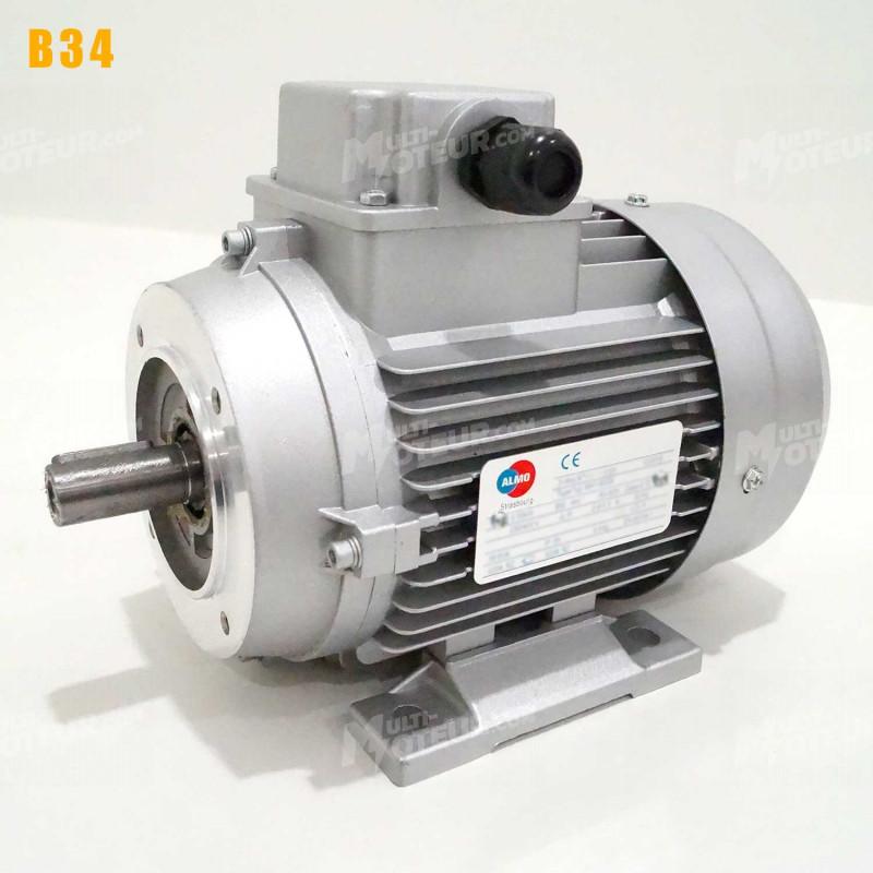 Moteur electrique 0,09 kW 3000 tr/min 230/400V triphasé ALMO MH1 - Bride B34