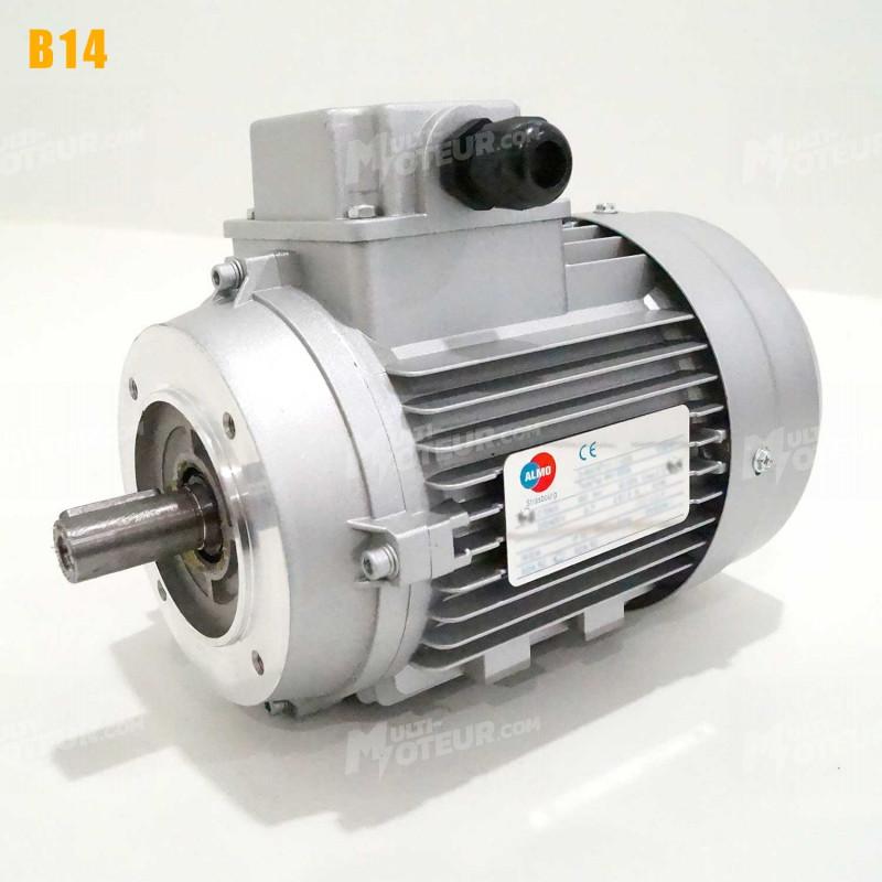 Moteur electrique 0,09 kW 3000 tr/min 230/400V triphasé ALMO MH1 - Bride B14