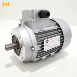 Moteur electrique 0,12 kW 3000 tr/min 230/400V triphasé ALMO MH1 - Bride B14