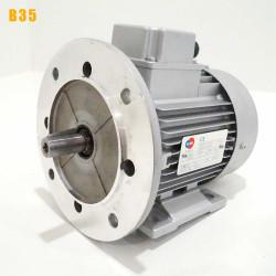 Moteur electrique 0,18 kW 3000 tr/min 230/400V triphasé ALMO MH1 carcasse réduite - Bride B35