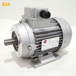 Moteur electrique 0,37 kW 3000 tr/min 230/400V triphasé ALMO MH1 carcasse réduite - Bride B34