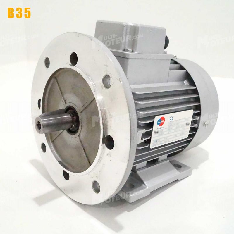 Moteur electrique 0,75 kW 3000 tr/min 230/400V triphasé ALMO MH1 - Bride B35