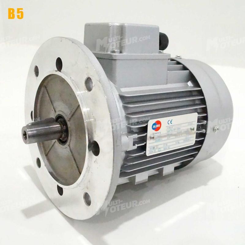 Moteur electrique 1,5 kW 3000 tr/min 230/400V triphasé ALMO MH1 carcasse réduite - Bride B5