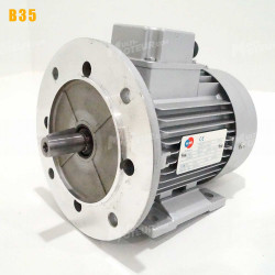Moteur electrique 7,5 kW 3000 tr/min 230/400V triphasé ALMO MH1 - Bride B35