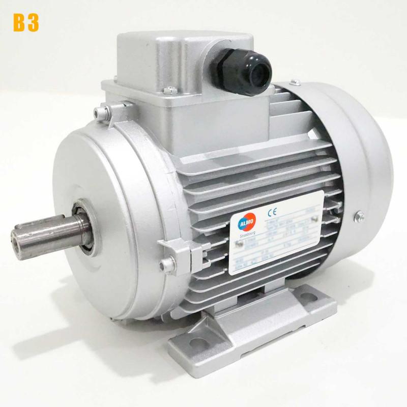 Moteur electrique 0,25 kW 1500 tr/min 230/400V triphasé ALMO MH1 - Bride B3