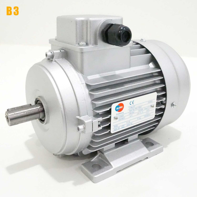 Moteur electrique 0,55 kW 1500 tr/min 230/400V triphasé ALMO MH1 carcasse réduite - Bride B3