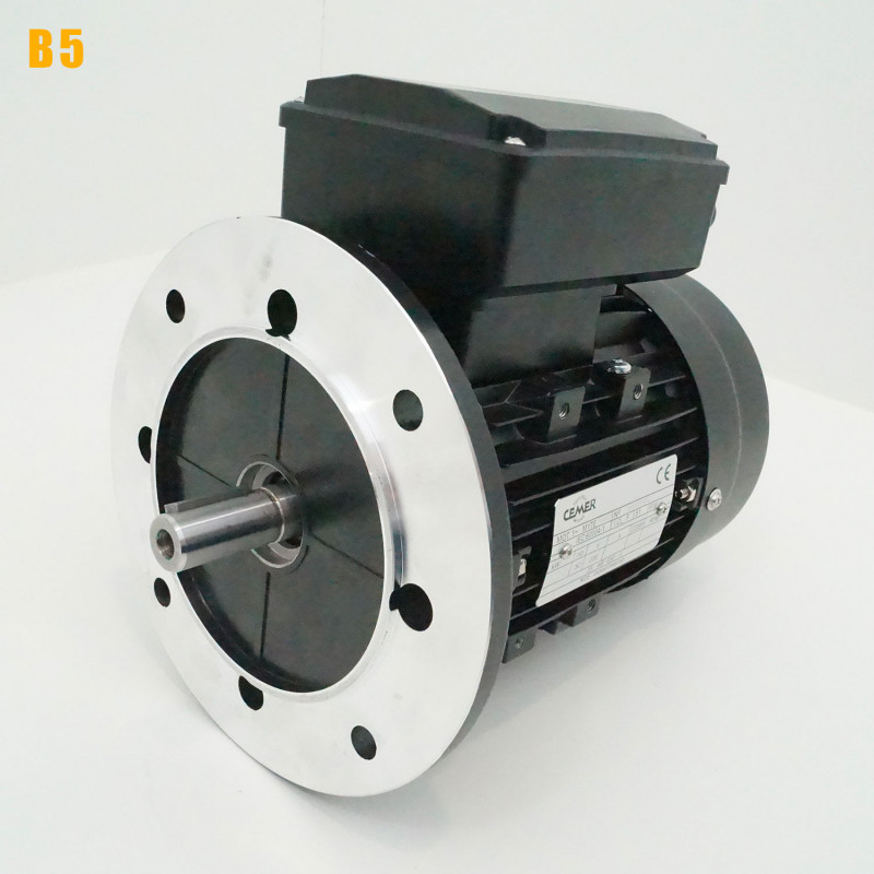 Moteur electrique 0,18 kW 3000 tr/min 220V monophasé CEMER MY - Bride B5