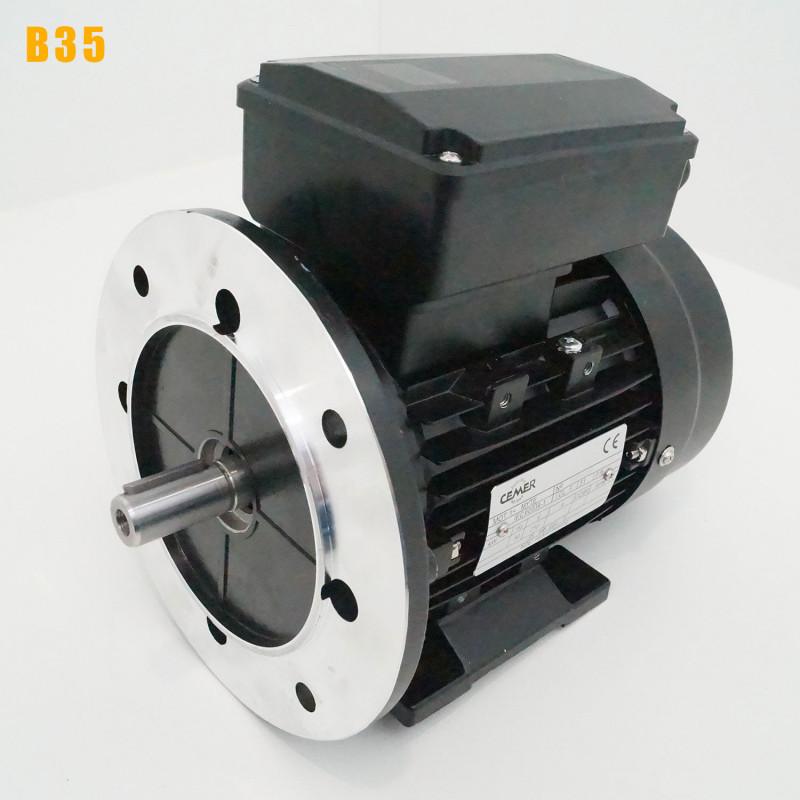 Moteur electrique 0,37 kW 3000 tr/min 220V monophasé CEMER MY - Bride B35