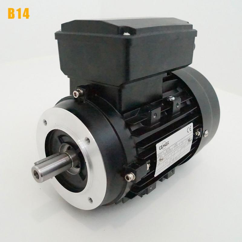 Moteur electrique 0,37 kW 3000 tr/min 220V monophasé CEMER MY - Bride B14