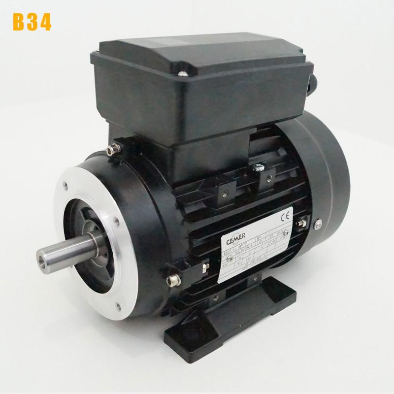 Moteur electrique 0,75 kW 3000 tr/min 220V monophasé CEMER MY - Bride B34