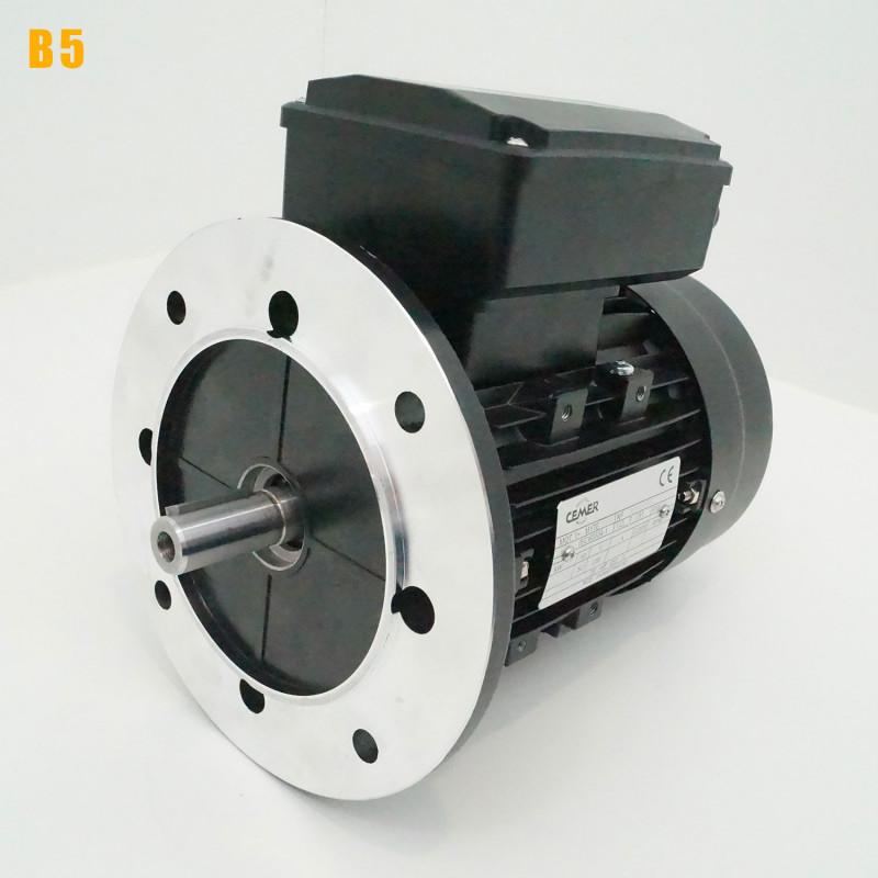 Moteur electrique 1,1 kW 3000 tr/min 220V monophasé CEMER MY - Bride B5