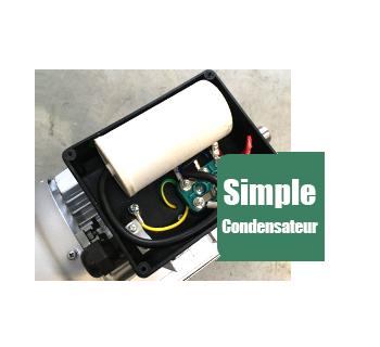 Moteur electrique ALMO à condensateur permanent