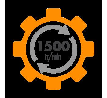 Moteur electrique ALMO à condensateur permanent et condensateur de démarrage 1500 tr/min