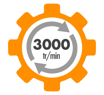 Moteur electrique ALMO à condensateur permanent et condensateur de démarrage 3000 tr/min