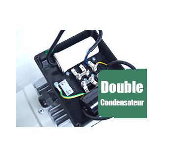 Moteur electrique CEMER à condensateur permanent et condensateur de démarrage